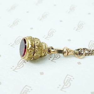 Pretty Red Glass Fob Pendant