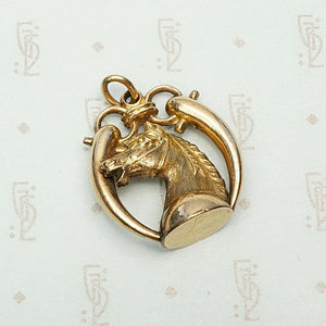 Spirited Filly Pendant in Gold Filled