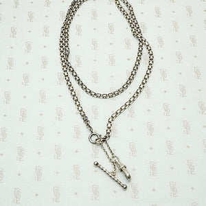 Sterling Flat & Flexible Married Chain with Hook & Bar