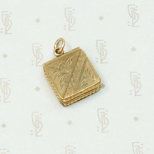 Stylish Square Engraved Victorian Locket