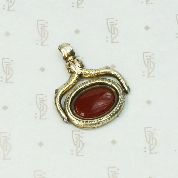Gorgeous Georgian Carnelian Spinner Fob