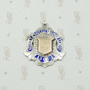 Audley Gold & Enamel on Silver Medal Fob