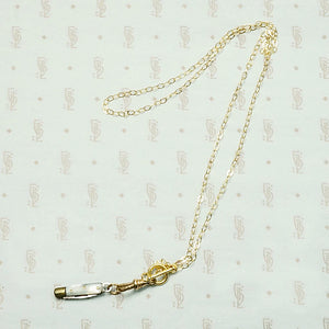 Mother of Pearl & Brass Tiny Knife Necklace