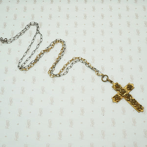 The Rose Covered Cross Necklace