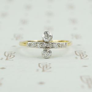 platinum and 18k diamond ring