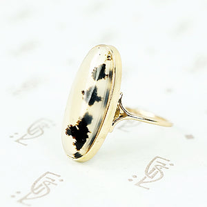 agate and recycled gold conversion ring