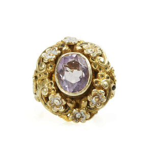 Antique Austro-Hungarian Ring set with an Amethyst