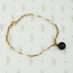 The Black Sphere Gold Chain Bracelet by AI