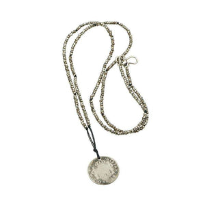 An 18th century Coin and Cut Steel Knotted Necklace by Ancient Influences