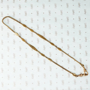 Gold filled double hook fancy fob chain