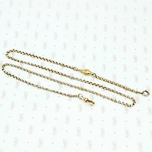 Fancy bit 9ct gold chain with swivel hook