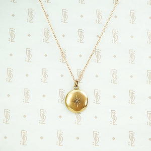 The Rosey Rose Cut Diamond Locket by AI