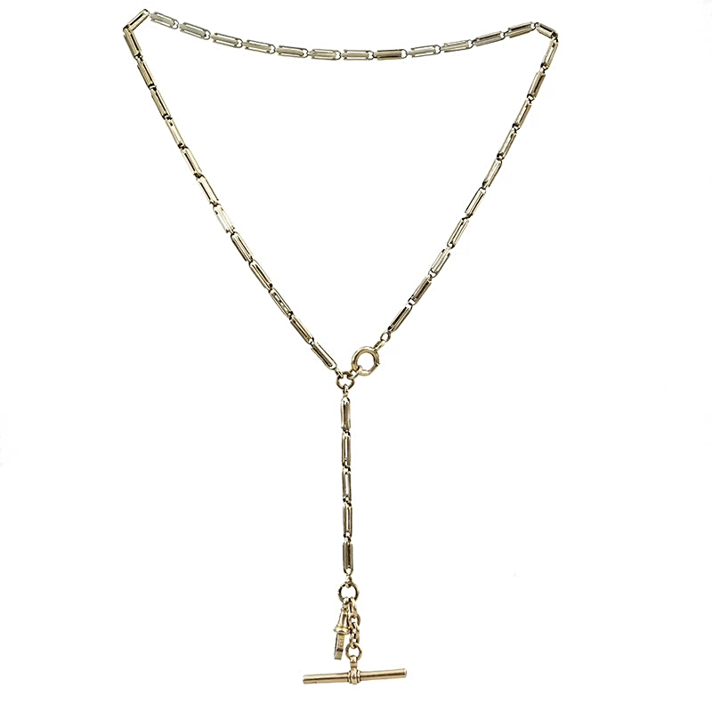 The Double Rectangle Bar Link T-bar and Swivel Chain