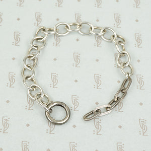 Rectangles and Ovals a Sterling Silver Bracelet