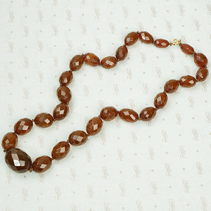 Antique Faceted Amber Bead Necklace