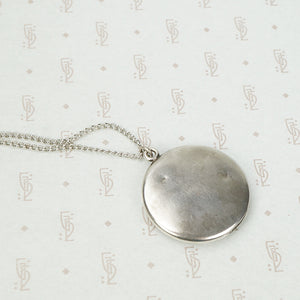 Sterling Art Nouveau Locket with Poppy
