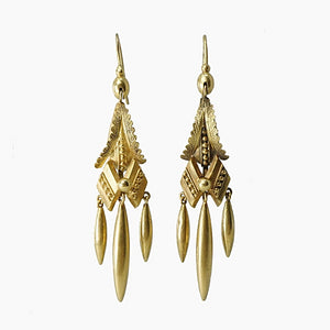 Architectural Style Victorian Dangle Earrings