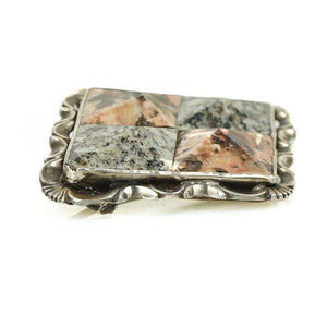 Victorian Silver Scottish Granite Brooch