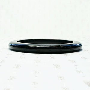 Glossy Black Bakelite Bangle