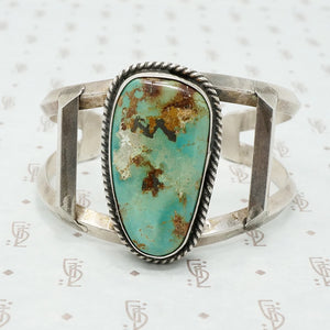 Edgy Vintage Turquoise Cuff Bracelet