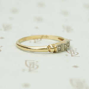 Step Up Vintage Two Tone Diamond Band