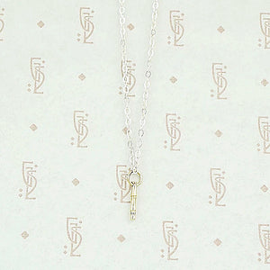 The Recycled Gold and Silver Bamboo Necklace