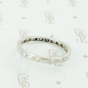 platinum diamond set eternity band