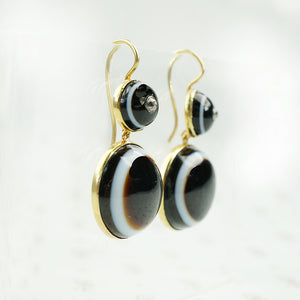 banded agate earringsside view