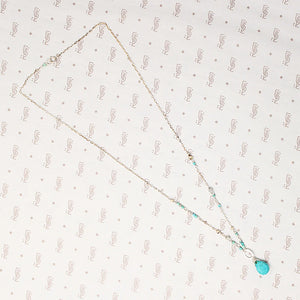 Sky Blue Turquoise Necklace by Brin