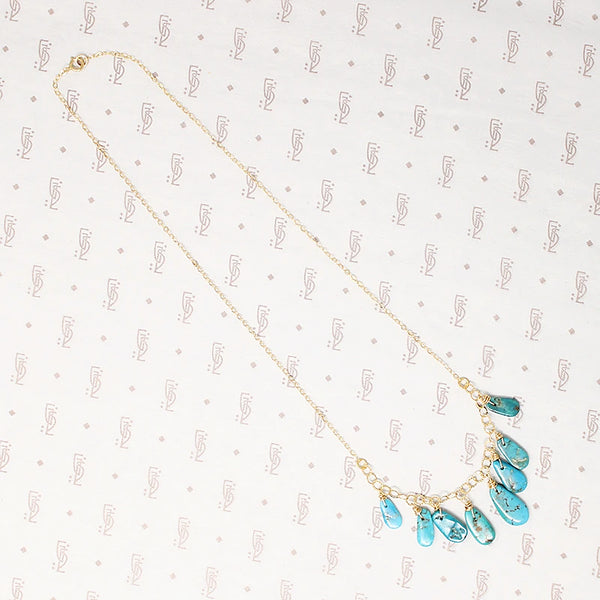 Festoon Necklace with Turquoise Drops by Brin