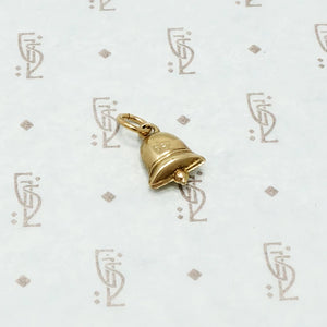 Vintage 1950's 9ct Bell Charm