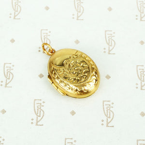 9ct gold backs and fronts locket