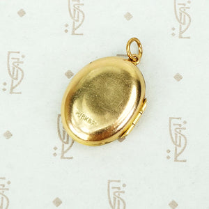 Vintage Victorian 9ct Feather Locket