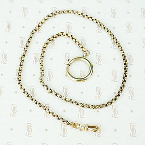 "16"" long faceted link gf chain with large spring ring and swivel hook"