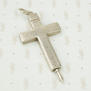 Large Birks Sterling Reliquary Cross