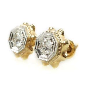 Gorgeous Diamond Stud Earrings from the 1940's