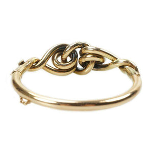Victorian Love Knot Bangle Bracelet in 9k Gold