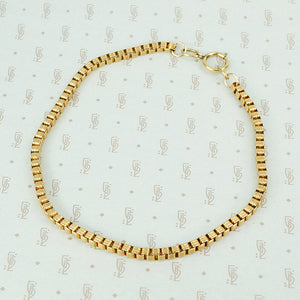 gold filled chunky short box chain