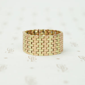Retro Flexible Rose and Yellow Gold Band
