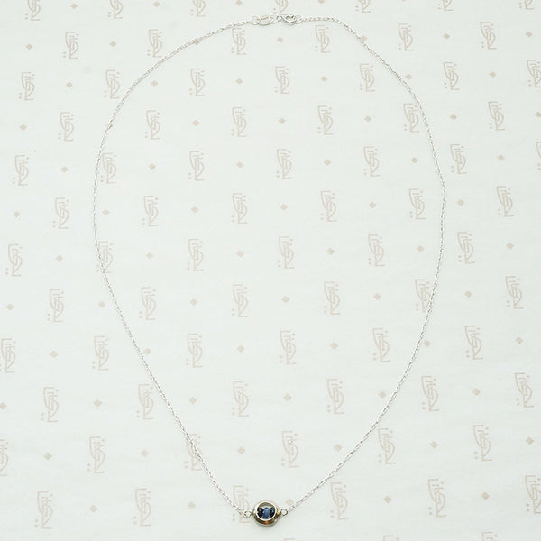 Sapphire O White Gold Necklace by brunet
