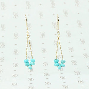 Boho Turquoise Swag Earrings by brunet