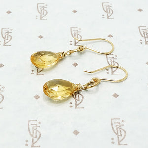 Citrine O Drop Earrings by brunet