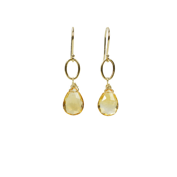 The Goldern Citrine Drop Earrings by brunet