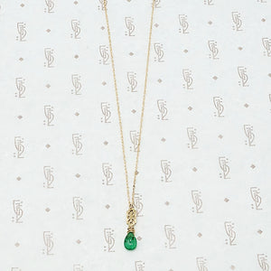 Emerald and Filigree Necklace by brunet