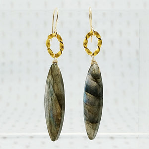 Twisted O Labradorite Ear Drops by brunet