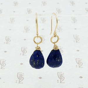 Lapis Lazuli O Drop Earrings by brunet