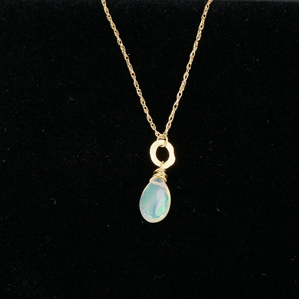 Opal O Recycled Gold Pendant