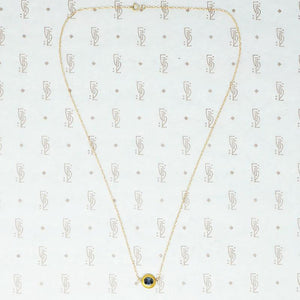 Sapphire O Gold Necklace by brunet