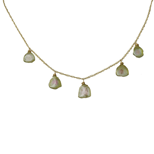 Watermelon Tourmaline Necklace by brunet