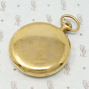 black starr and frost 18k gold pocket watch back